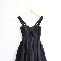 Asos Petite Black Baby Doll Romper With Front Cut Out.