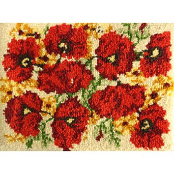 "Poppies Latch Hook Kit 27""X20"""