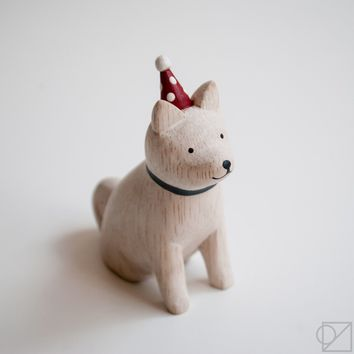 T-lab Handcarved Wooden Party Hat Akita