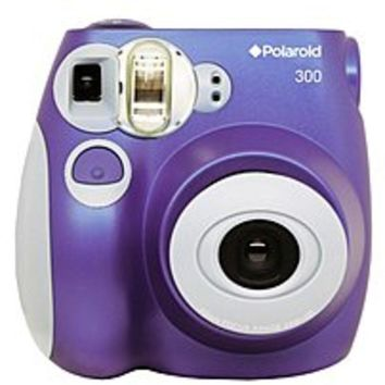 Polaroid PIC-300P 300 Instant Film Analog Camera - 1/60 Seconds Exposure Range - 60 mm Lens - Purple
