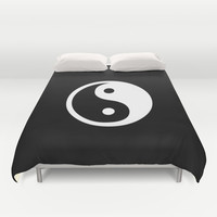 Yin Yang Black White Duvet Cover by BeautifulHomes | Society6