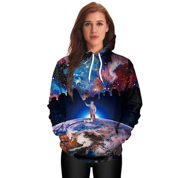 Casual Hoodies Print Pullover