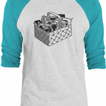 Big Texas Picnic Basket 3/4-Sleeve Raglan Baseball T-Shirt
