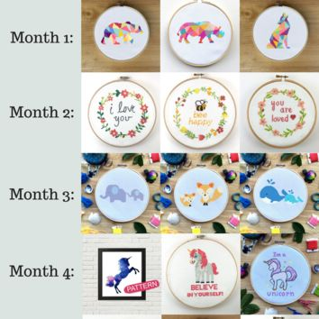 Cross Stitch Kit of the Month Club