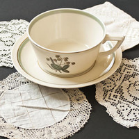 Mixed Set- Antique Lace Coasters, Vintage Handmade Doilies Lacework, Set of 4 Aged Linens Tea Party Supply