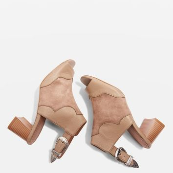 DREW Western Heeled Sandals - Shoes