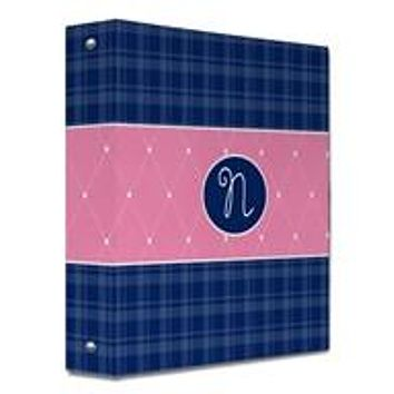 Quilted Monogram Binder