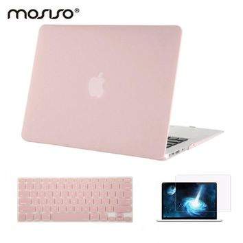 Mosiso Laptop Matte Carry Case for Macbook Air 13 A1369 A1466 2012 2013 + Silicone KB cover +Screen Protector
