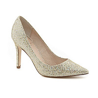 Adrianna Papell Adrianna Glitter Pointed-Toe Pumps - Platino