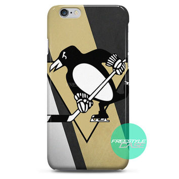 Pittsburgh Penguins NHL Sport Logo iPhone Case 3, 4, 5, 6 Cover