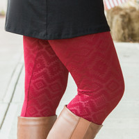 Fleece Lined Aztec Leggings