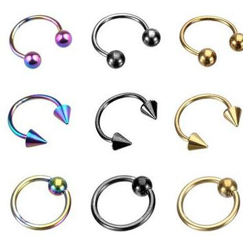 CBR nose rings body jewelry charm fake septum clip hoop nose piercing for men women pircing septo bijoux de corps nose ear studs