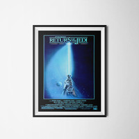 Star Wars Poster, Return of the Jedi Art Print, Movie Poster, Digital Download, 300dpi