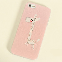 Cute Giraffe Frosted Painting Phone Case For iPhone 4/4S