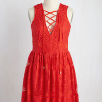 On a Hibiscus Note Dress | Mod Retro Vintage Dresses | ModCloth.com