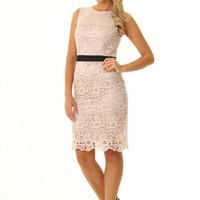JD317 Truly Stunning sleeveless wax lace pencil VIP dress