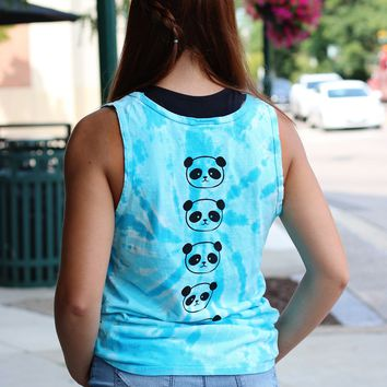 Bamboo Vibes Turquoise Tie Dye Tank