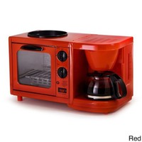 Maxi Matic Versatile 3-in-1 Mini Breakfast Maker-Red