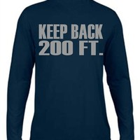 Moisture Wicking Reflective Keep Back 200 Feet Navy Long Sleeve