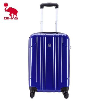OIWAS High quality 20 inch Rolling Luggage Suitcase travel luggage with Spinner Cases Trolley Suitcase wheeled OCX6075-20