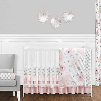 Sweet Jojo Designs Watercolor Floral 11-Piece Crib Bedding Set