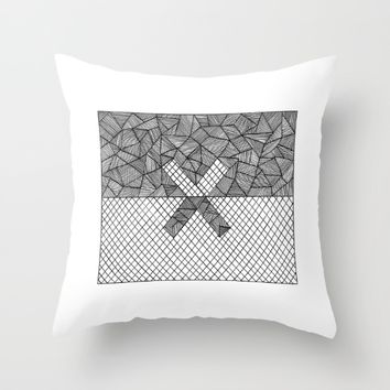 Halves Throw Pillow by Cinema4design