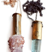 Unearthen Crystal bullet Necklace
