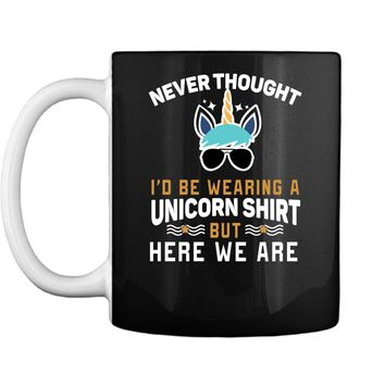 Funny Unicorn T-Shirt For Papa Dad Grandpa Big Brother Men Mug