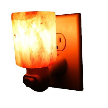 Himalayan Salt Night Light, Natural Crystal Lamp, Decorative Air Purifier Wall Light (Cylinder )