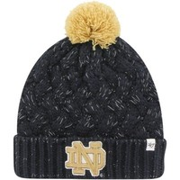 Notre Dame Fighting Irish '47 Brand Womens Fiona Cuff Knit Beanie – Navy Blue