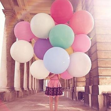 2018   1PCS 36 Inch 90cm Large Giant Oval Latex Big Balloon Wedding Party Decoration 2qw0709