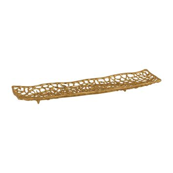 8987-028 Leaf Veins Centerpiece Platter