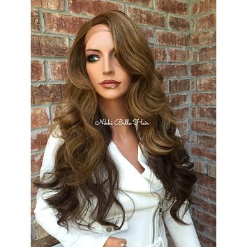 Brown Balayage' Lace Front Wig -  Shiloh