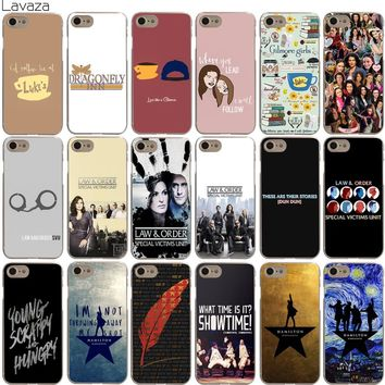 Lavaza Gilmore Girls Law & Order Special Victims Unit Hamilton Case for iPhone XS Max XR X 8 7 6 6S Plus 5 5S SE