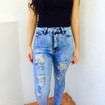 Belle Denim Distressed Jeans