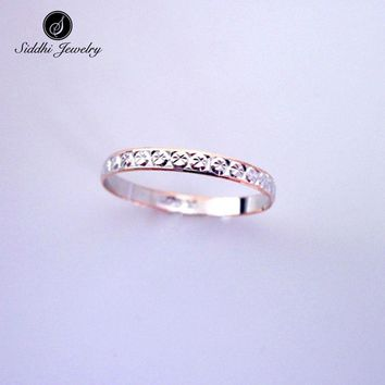 Siddhi 925 Sterling Silver Sample Classic Ring S925 Fashion Jewelry Tail Rings for Women Great Gift for Girl Friend