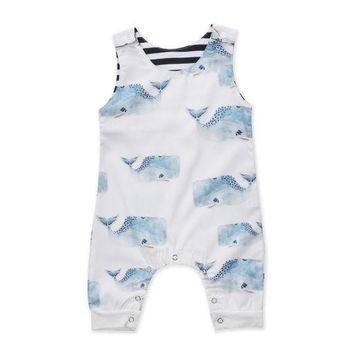 Newborn Infant Baby Boys Girls Clothing Romper Sleeveless Cotton Cute Jumpsuit Outfit Clothes Baby Boy