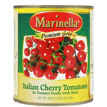 Italian Cherry Tomatoes with Basil by Marinella 28 oz