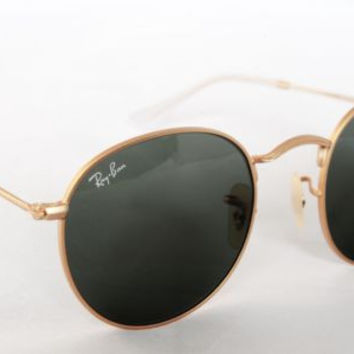 Ray Ban  RB3447  001 GOLD/GREEN G-15 ROUND SIZE 50mm
