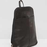 ASOS Mini Leather Backpack at asos.com
