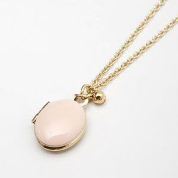 catbird::Emilie Despeaux::Tiny Enamaled Locket - Ballet Pink