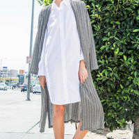 Slit Long Cardigan