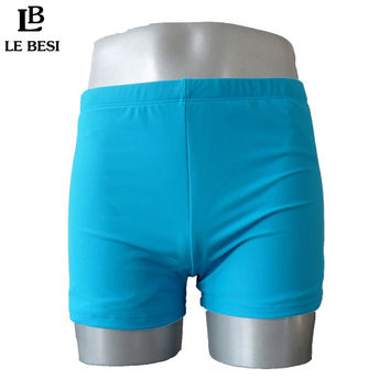 LE BESI New 2016 Oversize Man's Trunks Plus Size L-XXXL Boxers Pure Color Swimming Trunks Women Swimming Underwear Beach Shorts