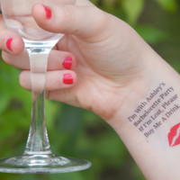 25 Bachelorette Tattoos - Bachelorette Party Temporary Tattoos - If I'm Lost, Please Buy Me A Drink