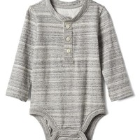 Long sleeve henley bodysuit | Gap