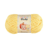 Bernat Baby Blanket Yarn in Baby Yellow Small Skein