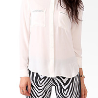Studded Button Up Blouse