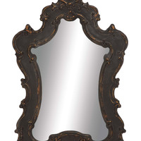 The Brooding Wood Wall Mirror