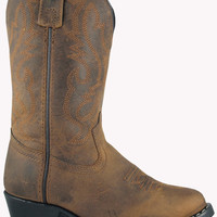 Smoky Mountain Youth/Children's Boots Distressed Brown Leather - 3034C