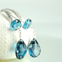 Blue Bridal Earrings on Etsy:) Bridal Earrings